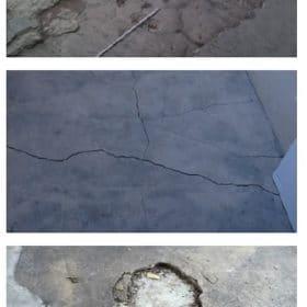 Plaisu labošana betonā