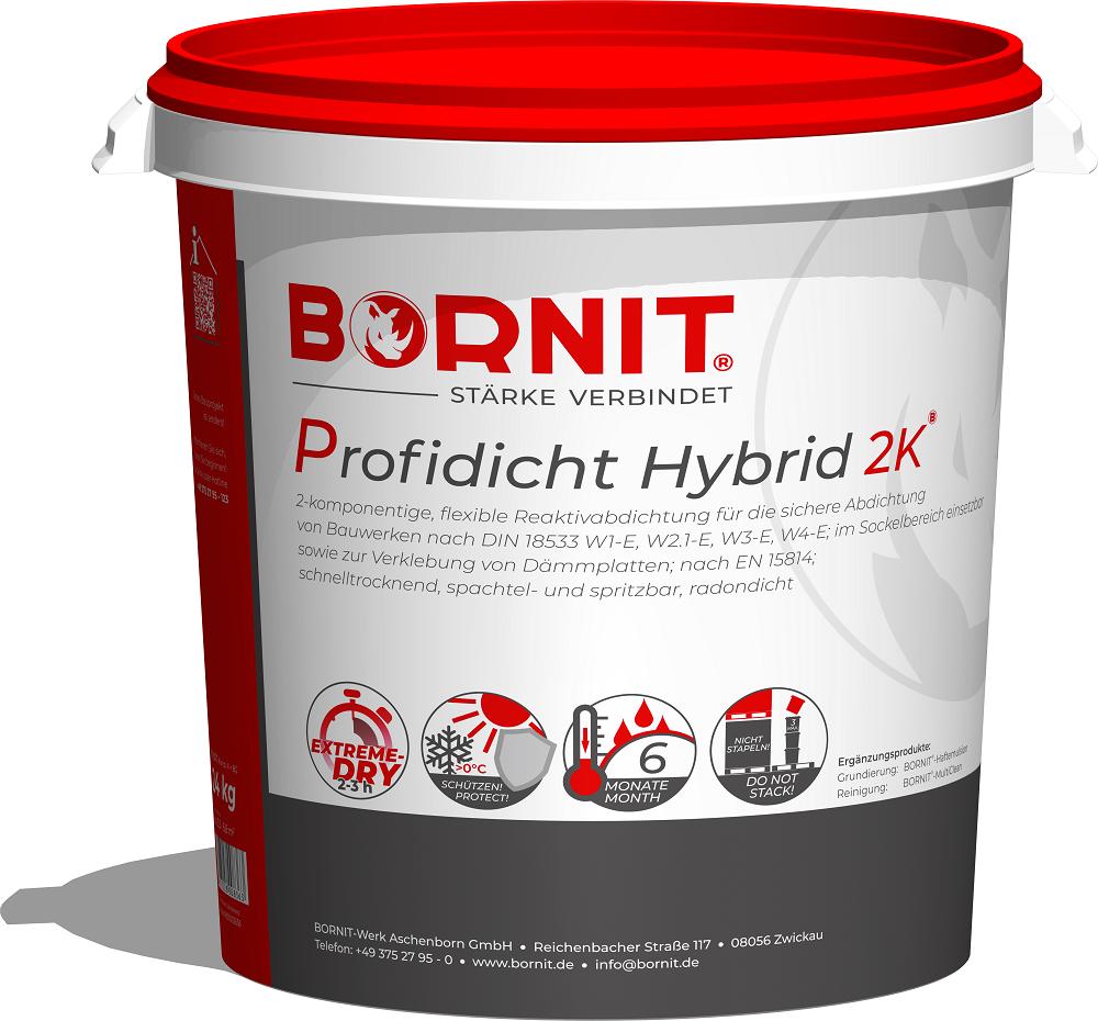 BORNIT-Profidicht Hybrid 2K (bitumena -polimēru pārklājums Hybrid 2K